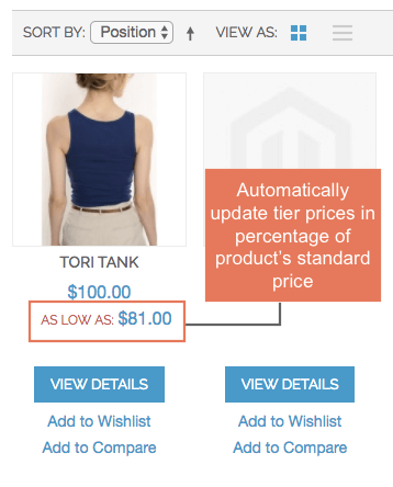 Automatically update tier price when price is changed