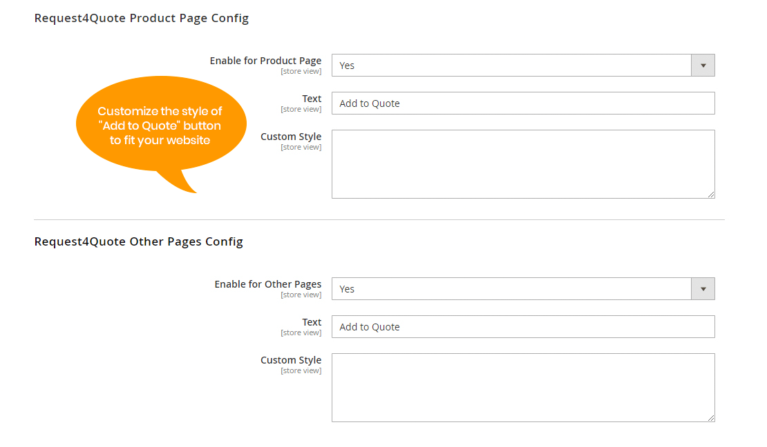 magento-2-request-a-quote-extension-button-settings