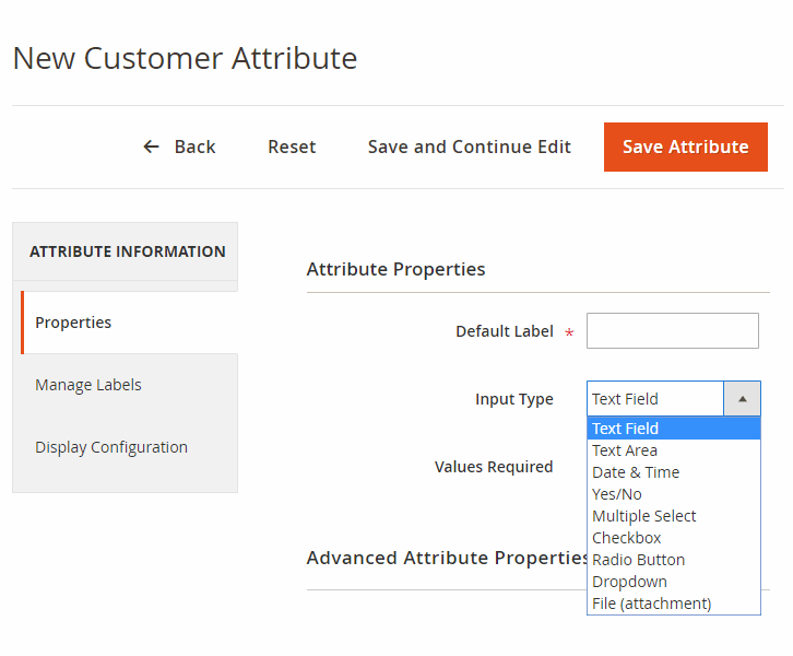 magento 2 customer attribute magento custom form extension