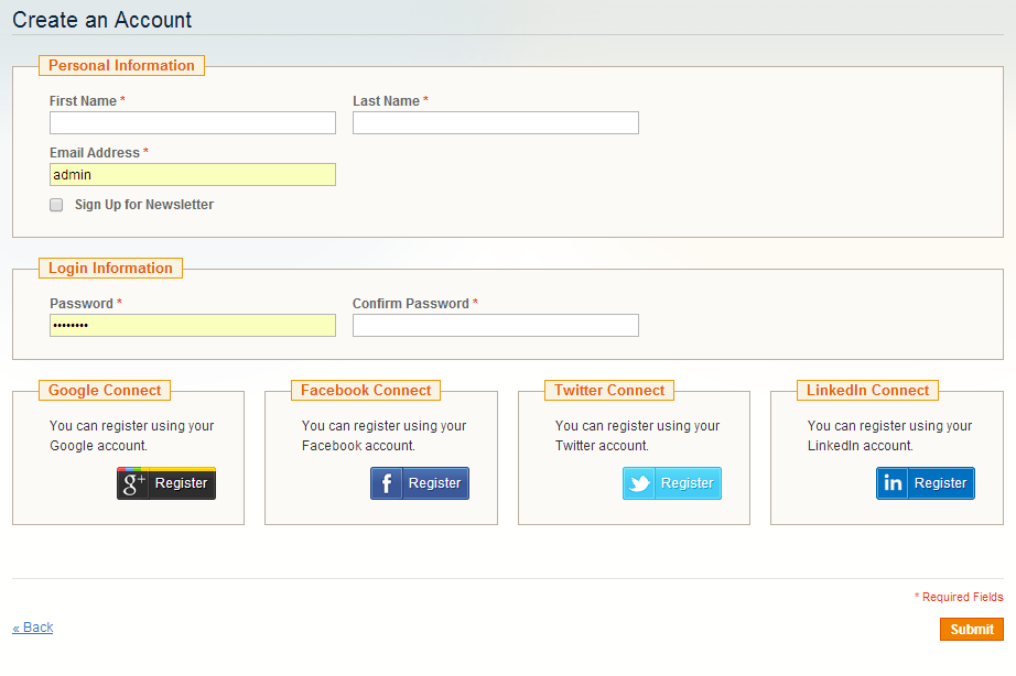 BSS Social Login Extension