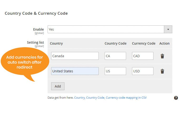 currency switcher