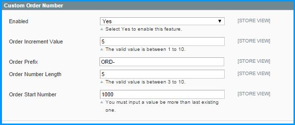 Magento custom order number - set up