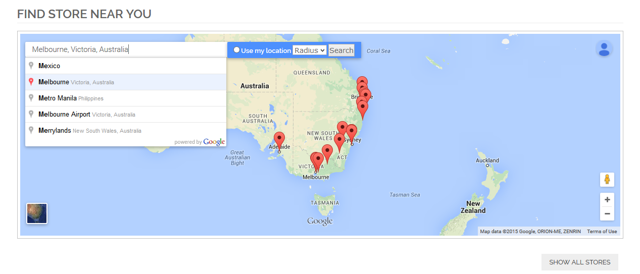 BSS Store Locator Extension