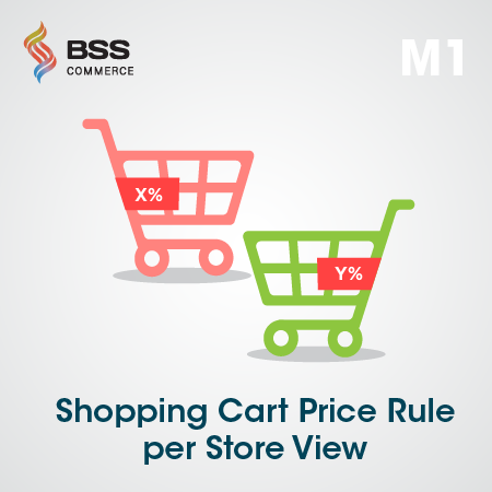 Magento shopping cart rule per store view