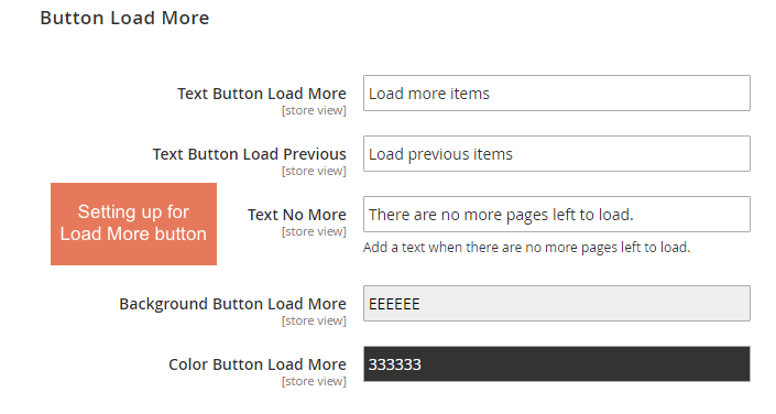 infinite scroll magento-button load more