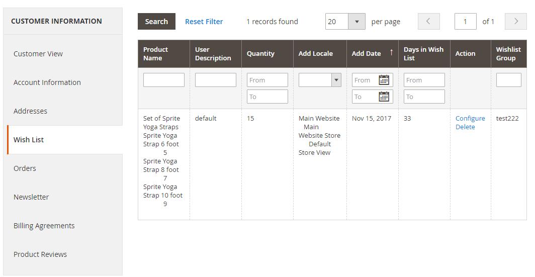 Magento2 import export - wishlist items