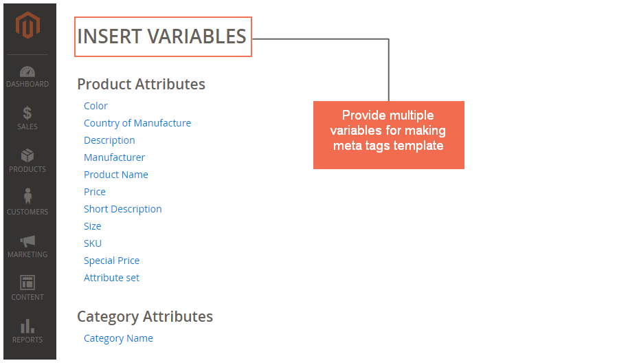 Provide multiple variables for making meta tags template