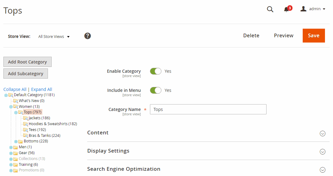 Preview frontend category pages from Edit Category page