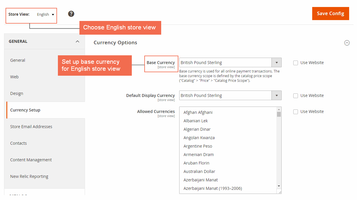 multiple store view pricing for magento 2 - base currency for english
