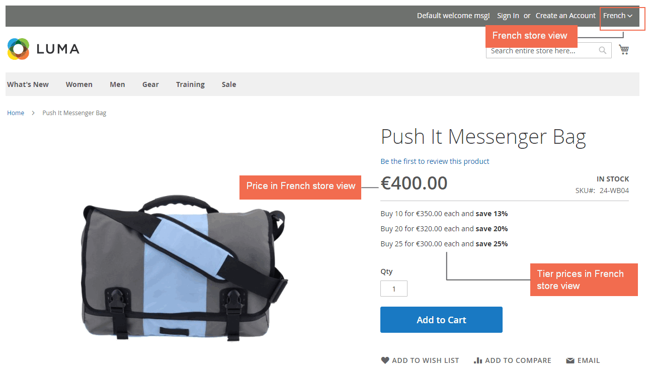 magento 2 price per store view - price in French