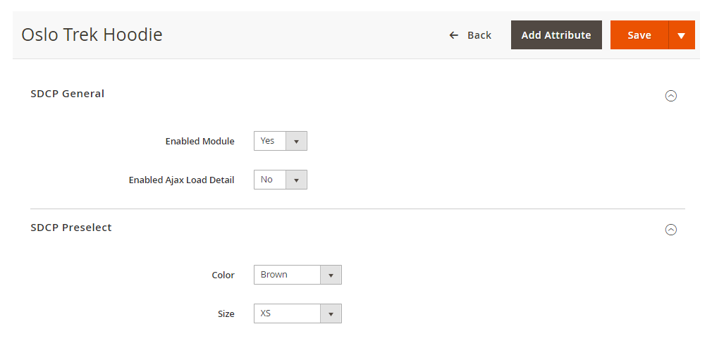 configurable product magento 2 extension - config in edit page