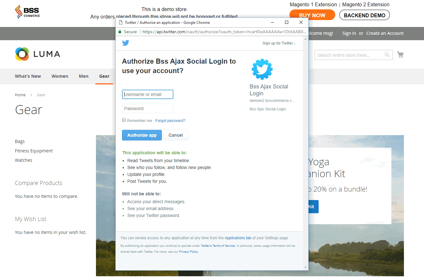 Customers can easily sign in through various social account