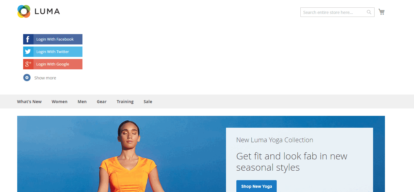 Magento 2 Social Login extension allows admin to easily set social login block on any page
