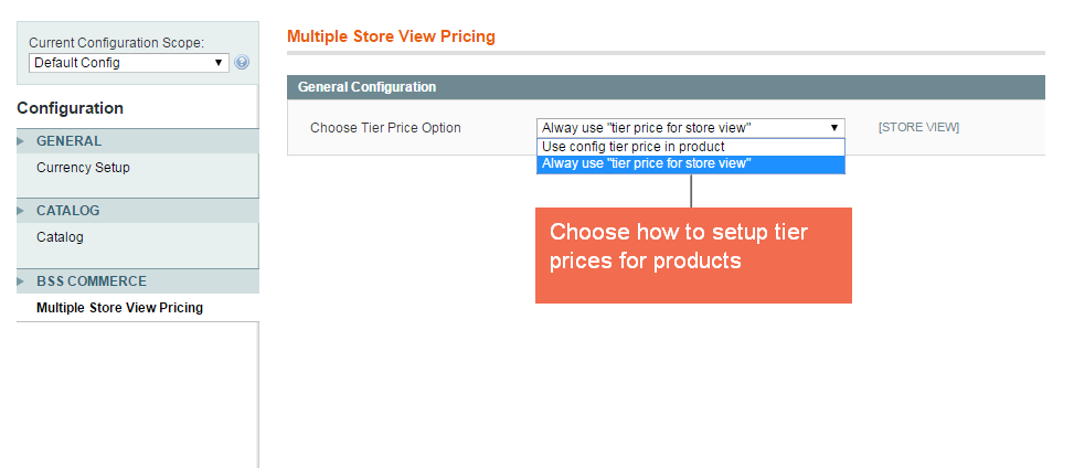 Choose how to setup tier prices