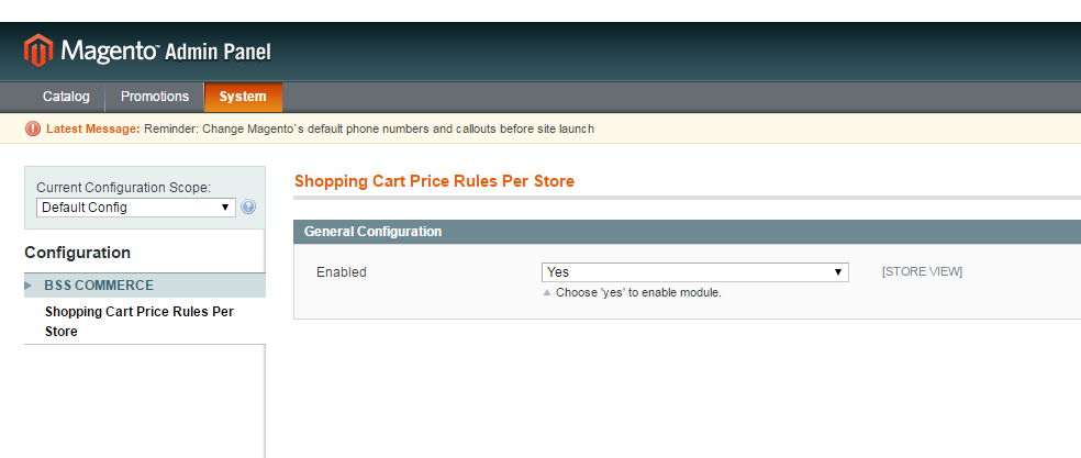 Magento shopping cart extension-enable module