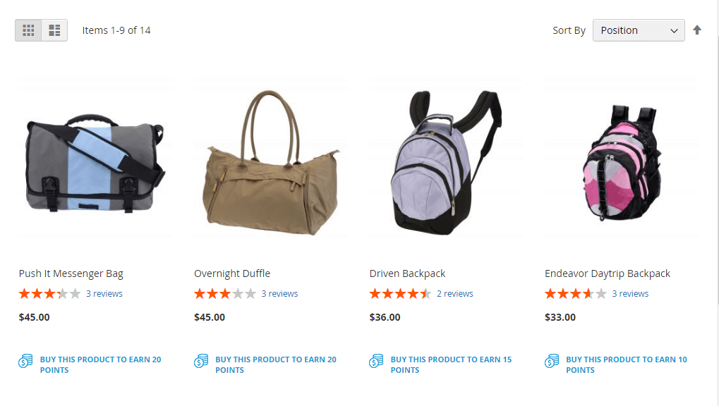 reward points magento 2 - point in the catalog page