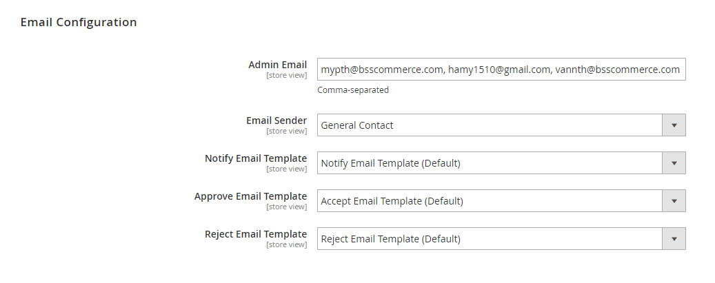 Configure the refund email of Magento 2 Refund Request by Customer extension