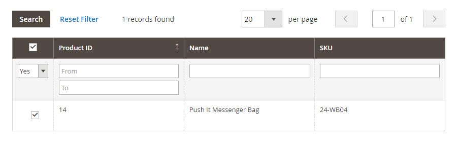 Magento 2 Product Questions - Products assigned