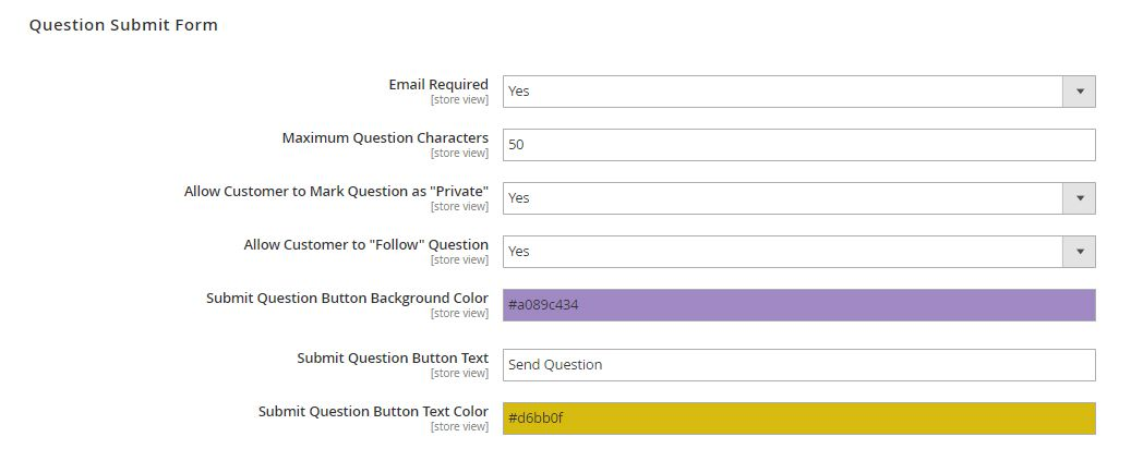 Magento 2 Product Questions - Edit question submit form