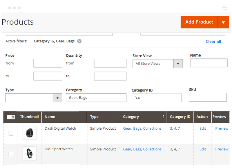 Filter products by similar Category and Category ID