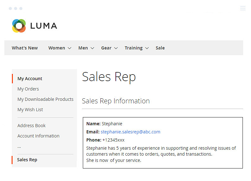 Show-Sales-Rep-Information-under-My-Account