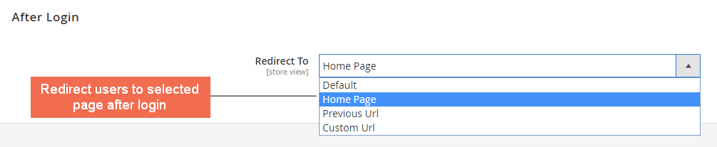 select-redirected-page-after-login-magento-2-force-login-extension