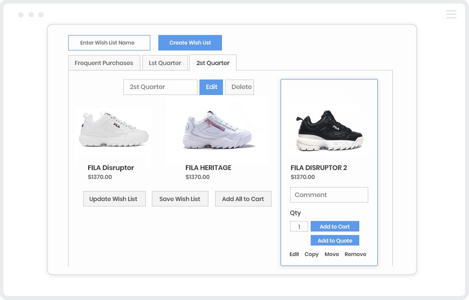 Add Products to wishlists in the frontend