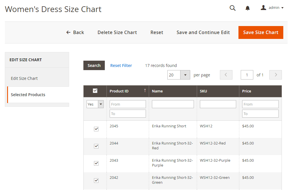 assign-size-chart-to-product-by-product-grid-magento-2-size-chart-extension