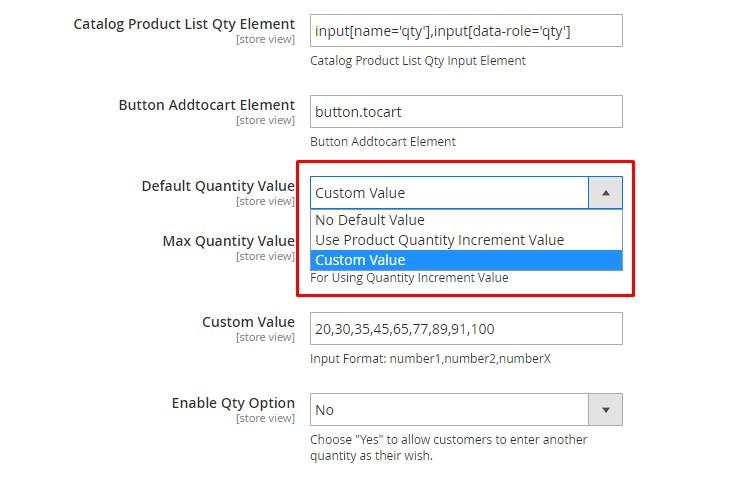 Custom Value Dropdown List