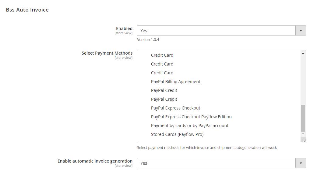 Enable magento 2 auto invoice extension