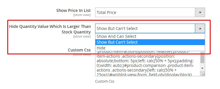 Show Quantity But Cant Select