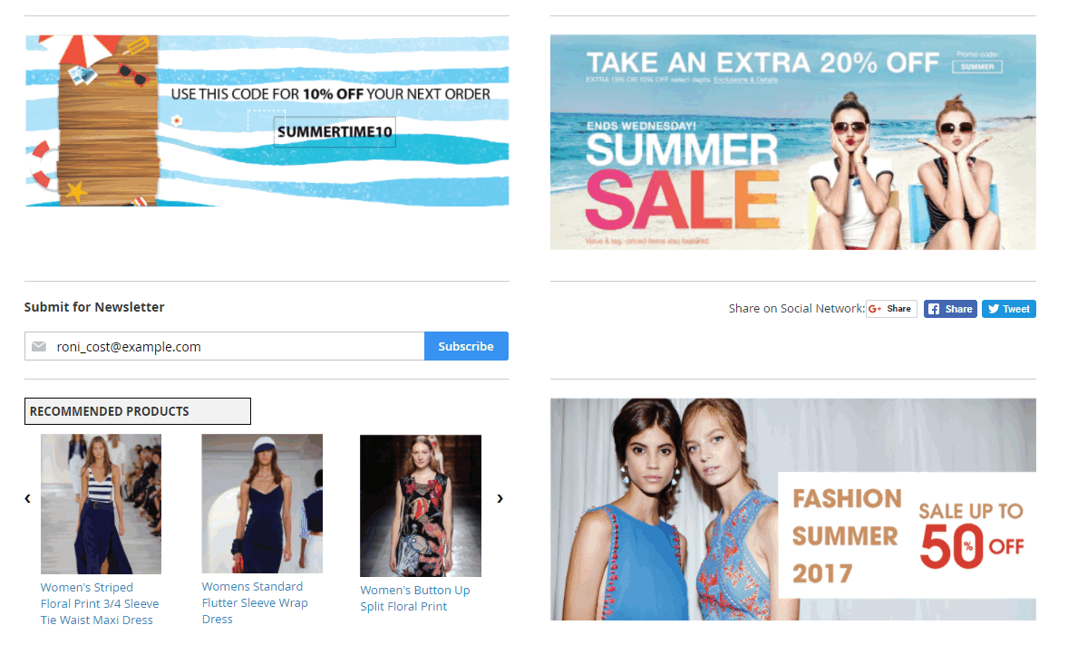 display many sections on Magento 2 checkout success page extension