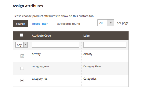 magento display product attributes 1