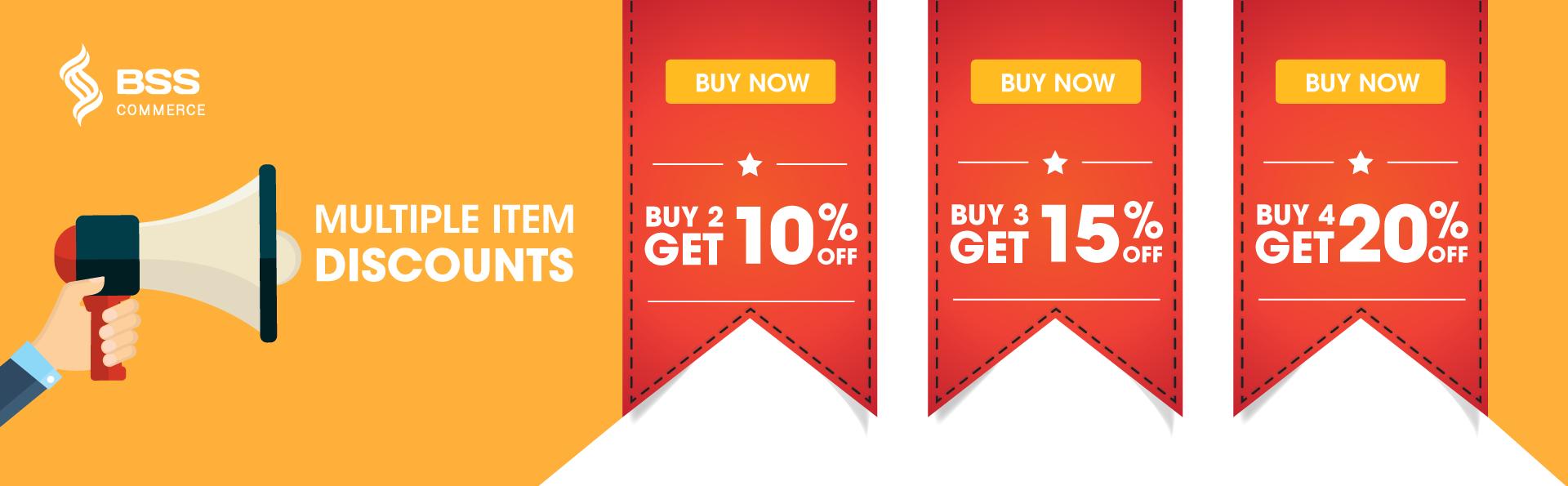 multiple item discount