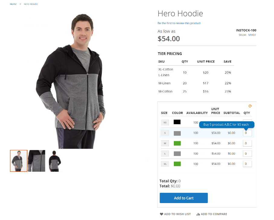 magento 2 configurable product grid view