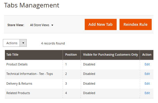 create new product tabs 1
