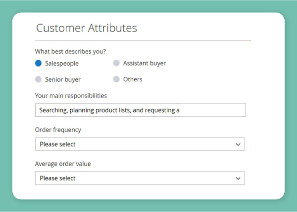 add customer attribute to registration and checkout