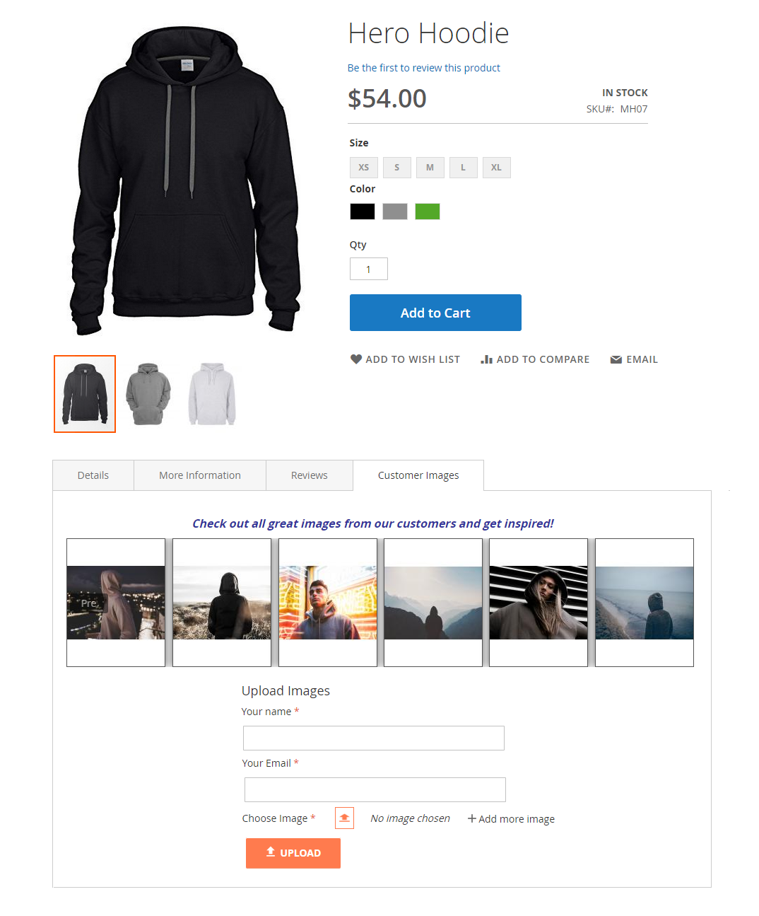 magento 2 product images by customer extension demo