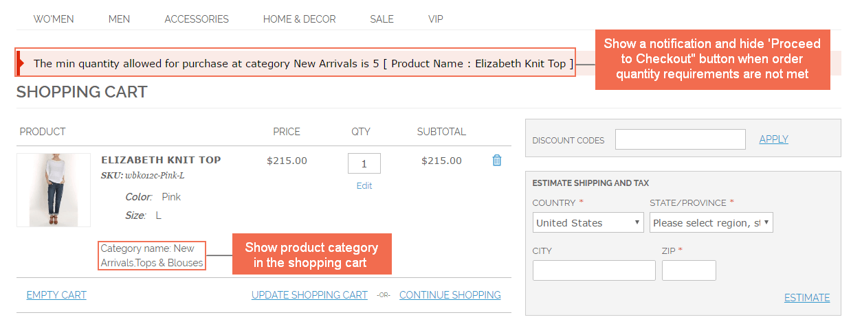 magento-Limit-Order-Quantity-per-Category-frontend