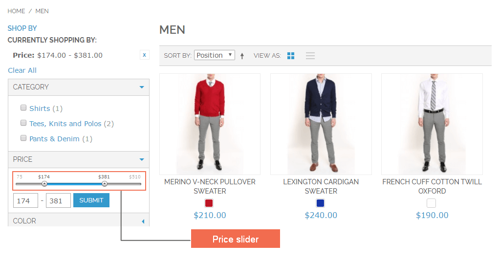 magento-SEO-Layered-Navigation-frontend-2-price-slider