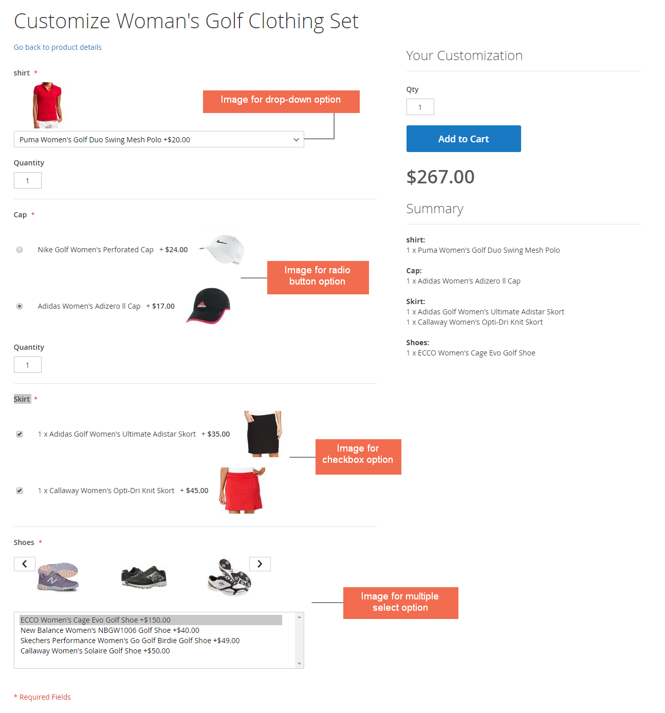 show children product images in options - magento 2 bundle option image