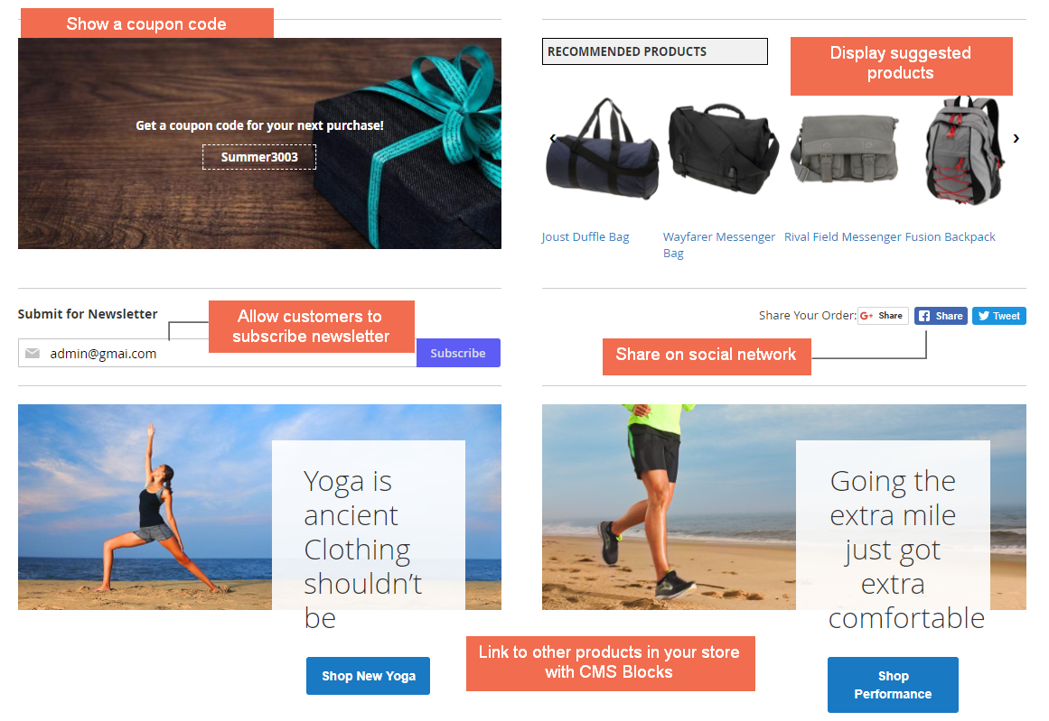 Display other information on Magento 2 checkout success page