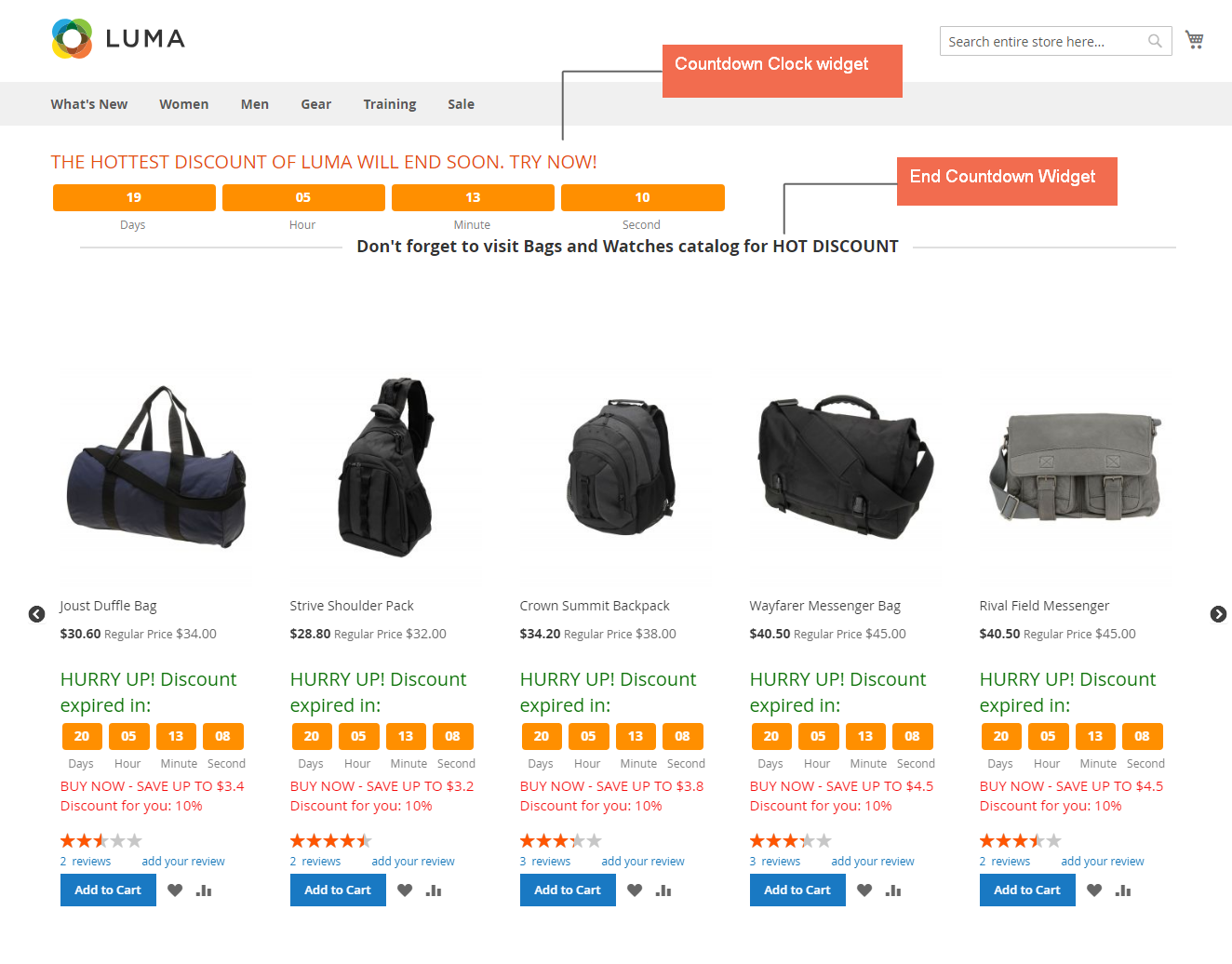 magento 2 special price countdown widget on home page