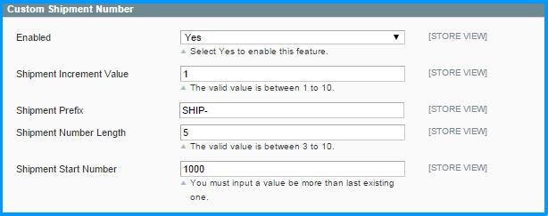 Custom-order-number-backend-shipment-number