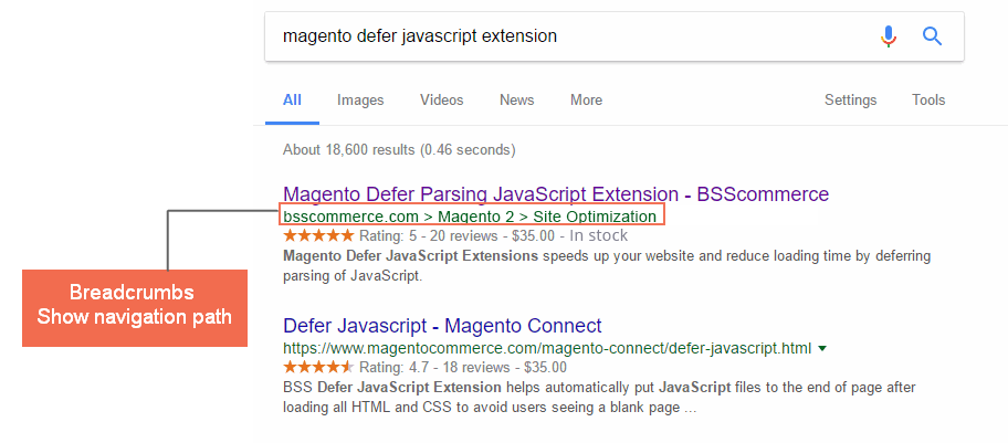 Magento 2 Rich Snippets Extension breadcrumbs bsscommerce