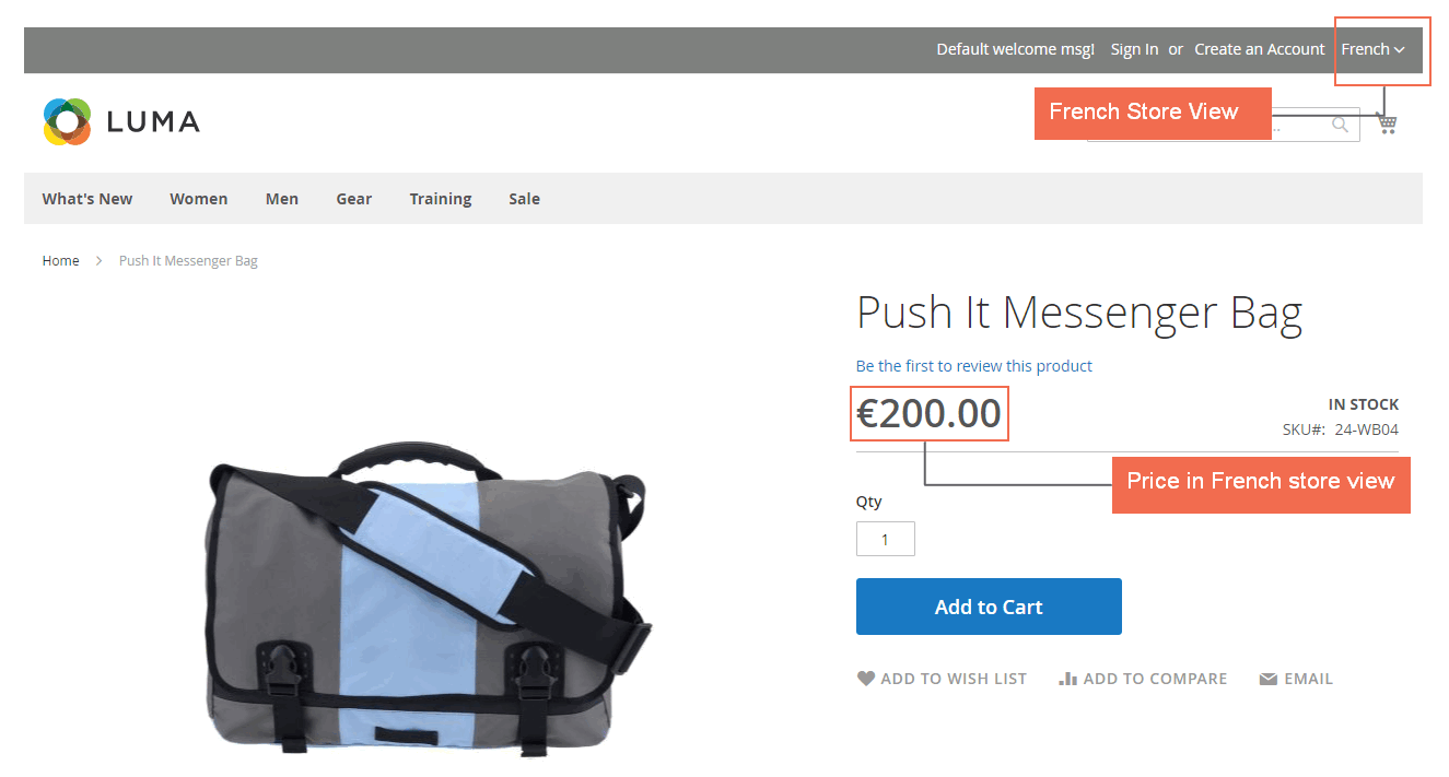 magento 2 multiple store view pricing-price in french