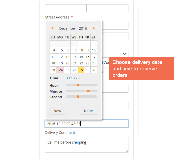 magento 2 one step checkout-delivery date