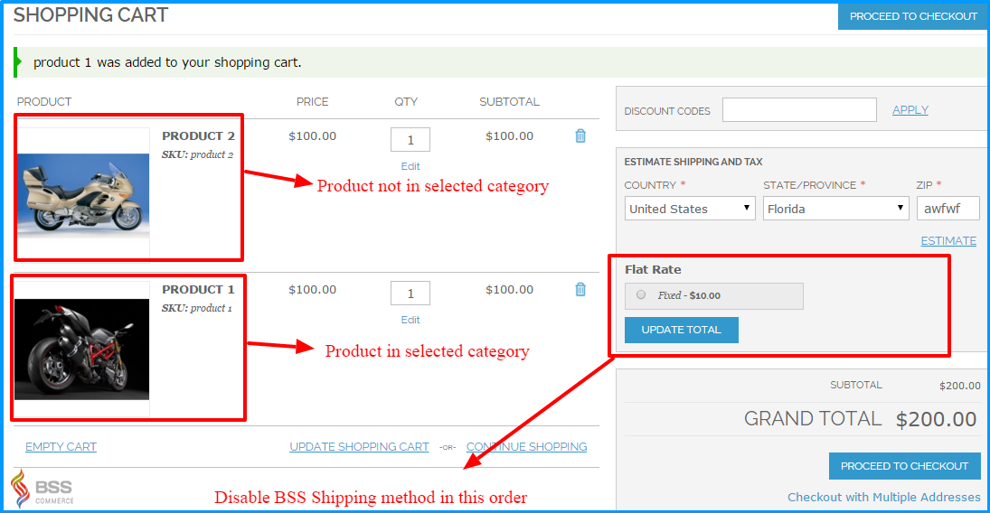 magento shipping method for category-Disable added shipping method for orders including products belonging to selected categories