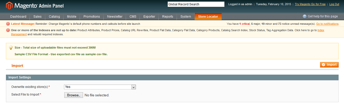 Magento Store Locator Extension File