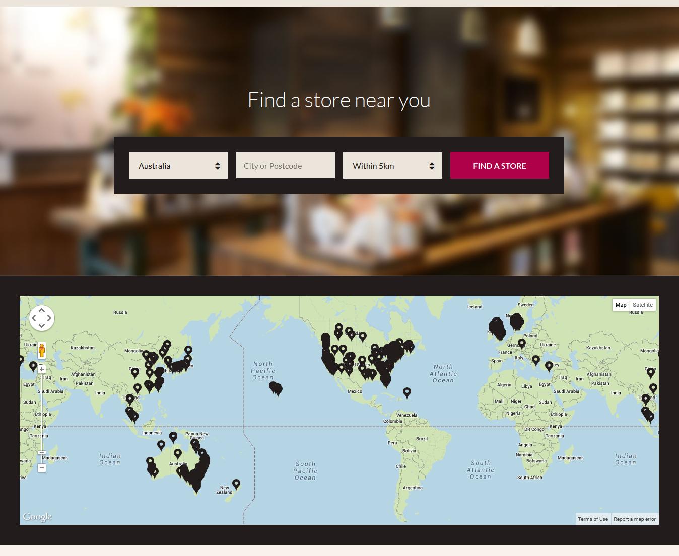 Magento Store Locator Extension-Customer search store locations